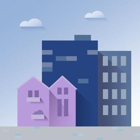 Beautiful cityscape paper art style vector illustration Imagens - 103343261