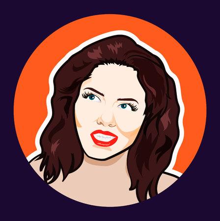 Pop art woman. Vector illustration Imagens - 104454522
