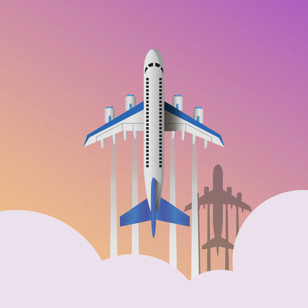 Air travel infographics template. Eps10 vector travel around the world illustration, banner