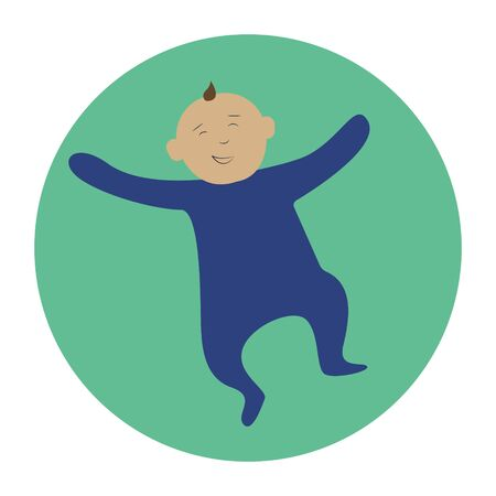 baby flat icon , vector illustration