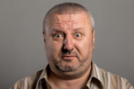 viso uomo: uomo Suprised