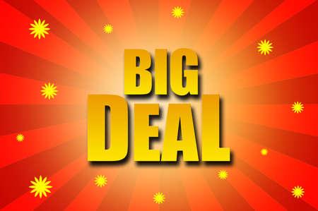 big deal: Big Deal template design Stock Photo