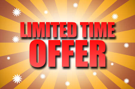 limited time: Limited Time Offer template design Stock Photo