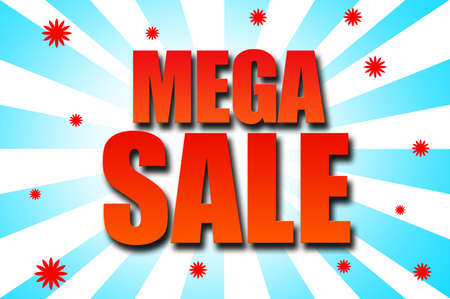 mega: Mega Sales template design Stock Photo