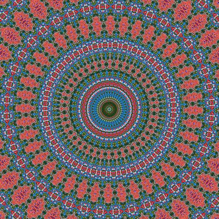 mixed wallpaper: orange mixed round ornament