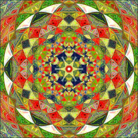 ornamentation of colorful patterns