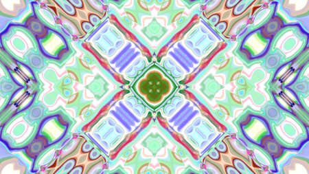 mixed color pattern ornament