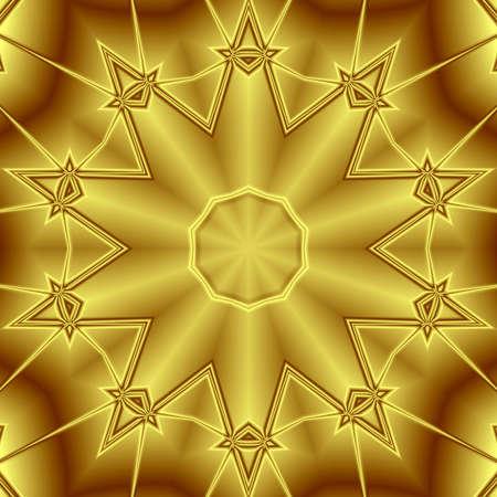 golden pattern ornament Stock Photo