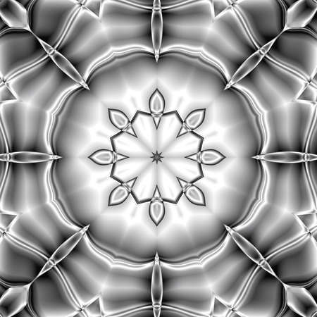 black and white pattern ornament