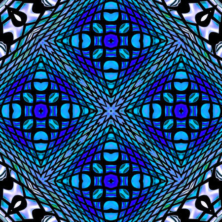 mixed color unique pattern ornament Stock Photo