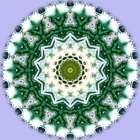 Unique mandala, Oriental round pattern, Mystical motif, Abstract exotic background. Fantastic fractal design, Colorful digital art, shining geometric texture. Reklamní fotografie