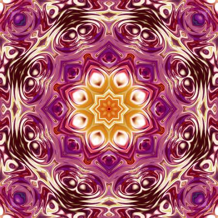Oriental pattern, Mystical motif, Abstract background. Fantastic design, Colorful digital art, geometric texture.