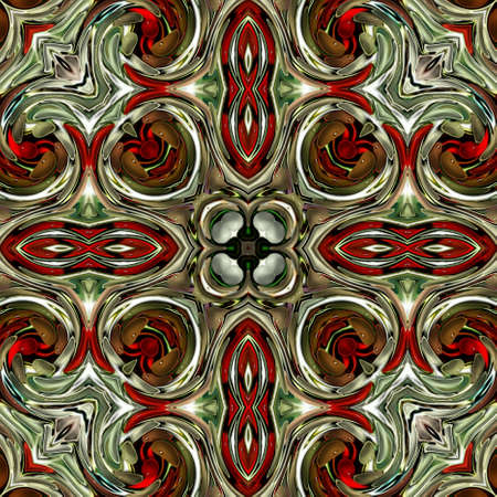Colorful digital art, Oriental pattern, geometric texture, Mystical motif, Abstract background, Fantastic design. Reklamní fotografie