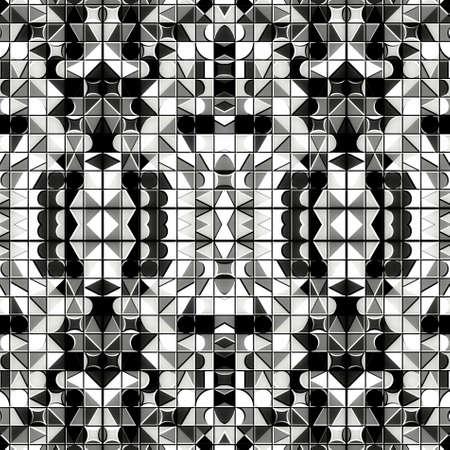 Colorful digital art, Oriental pattern, geometric texture, Mystical motif, Abstract background, Fantastic design. Stock fotó