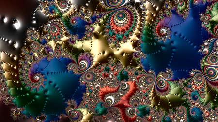 fractal, Digital artwork, geometric texture, Abstract background