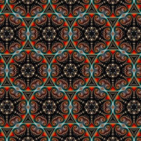 Fraktale, digitale Kunstwerke, geometrische Textur, abstrakter Hintergrund Standard-Bild