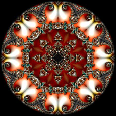 fractal, Digital artwork, geometric texture, Abstract background Foto de archivo