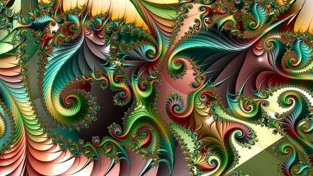 Fraktale, digitale Kunstwerke, geometrische Textur, abstrakter Hintergrund