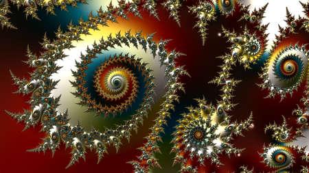 fraktale Kunst, fraktaler Hintergrund, digitales Kunstwerk, geometrische Textur, abstrakter Hintergrund Standard-Bild