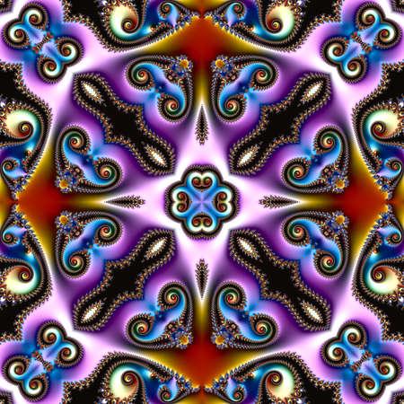 fractal art, fractal background, digital artwork, geometric texture, abstract background Standard-Bild