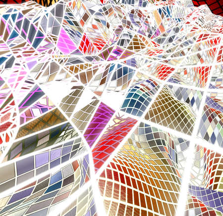 Special art, unique abstract design, fractal geometry Standard-Bild - 147322299