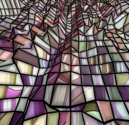 Special art, unique abstract design, fractal geometry Standard-Bild - 147322425