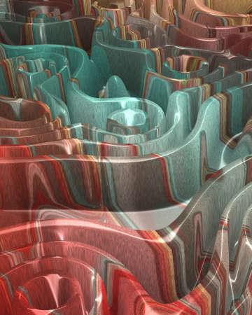 Special art, unique abstract design, fractal geometry Standard-Bild - 147322647