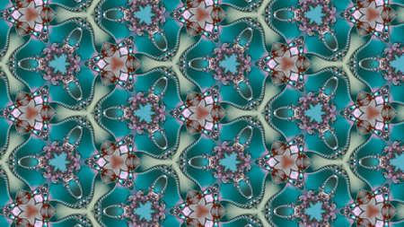Special art, unique abstract design, fractal geometry Standard-Bild