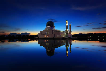 Floating Mosque Reflection photo