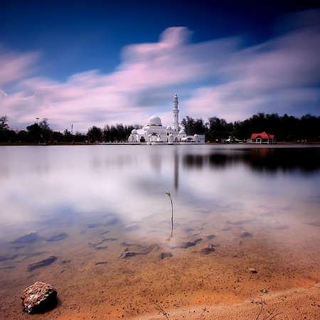 terengganu: Floating Mosque Tengku Tengah Zaharah, Malaysia