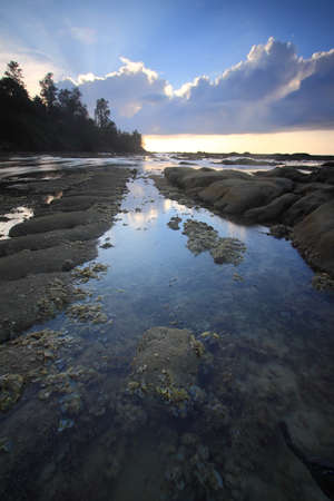 Rays of light at Tip of Borneo, Simpang Mengayau, Kudat, Malaysia photo
