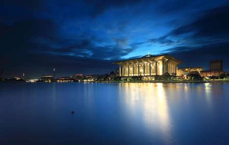 Iron mosque Putrajaya at blue hour