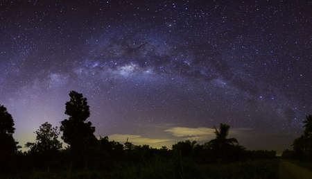 Milky way panorama in Lumut, Malaysia photo