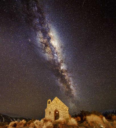 good shepherd: The Milky Way above Church of The Good Shepherd