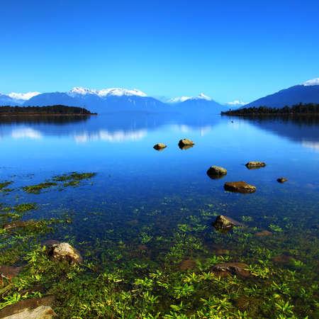 Te: Lake Te Anau, New Zealand Stock Photo