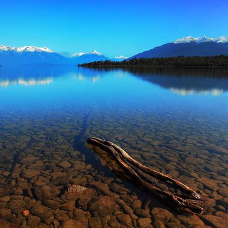 Te: Scenic view at Lake Te Anau, New Zealand