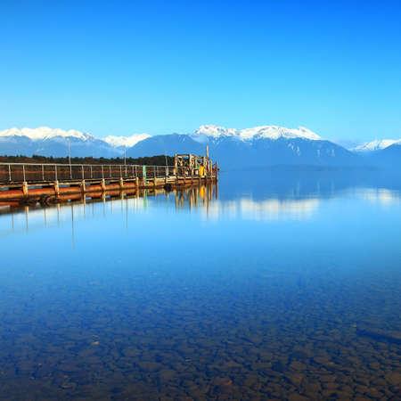 anau: Lake Te Anau, New Zealand Stock Photo