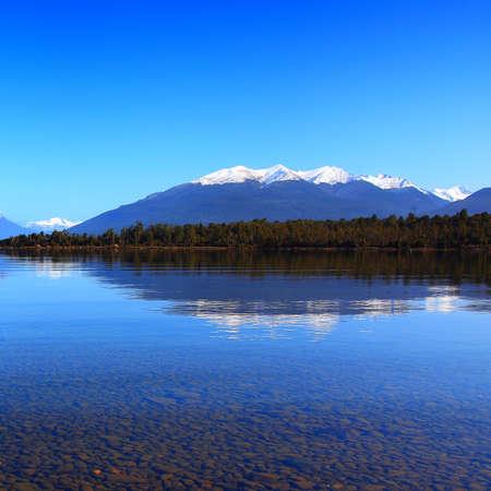 Te: Reflection Lake Te Anau, New Zealand