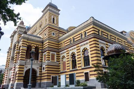 bilding: beautyfull bilding of georgian opera in Tbilisi Editorial