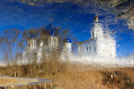 nerl: the reflection of Cathedral of the God-loving Icon of the Mother of God