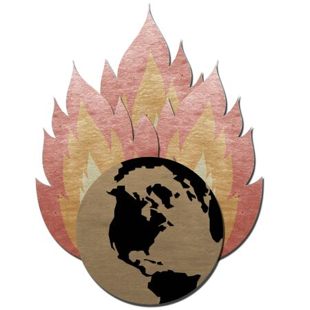 fire flame burning dry earth photo