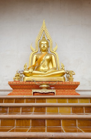 venerable: Buddha sculpture at Chiangmai Temple Thailand Stock Photo