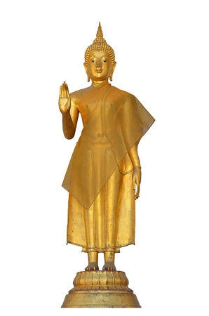 venerable: Buddha sculpture at Bangkok Temple Thailand