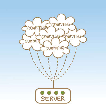 abstract of cloud computing server photo