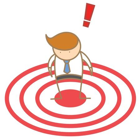 cartoon character of  man spot as target Stock Photo - 17389490