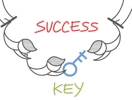 cartoon character of key success circus Stock Photo - 17389477