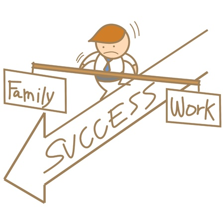 man balancing family and work Stock Photo - 17389509