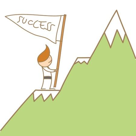 Business man climb to success Vector