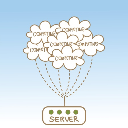 abstract of cloud computing server Vector