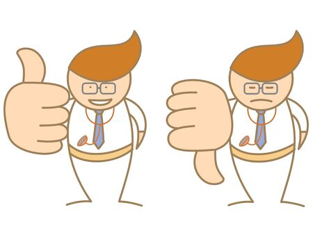 doctor thumbs up down saying like and dislike Stock Vector - 17414715